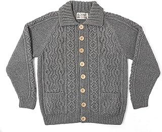 [インバーアラン] INVERALLAN 3A Heavy Weight 100% Cashmere Handknit Cardigan Made In Scotland