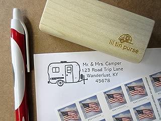 U-Haul Egg Camper Fiberglass Travel Trailer Personalized Address Stamp