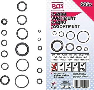 BGS 8044   O Ring Sortiment   225 tlg.   Ø 3   22 mm  aus NBR gefertigt   inkl. Sortimentskasten