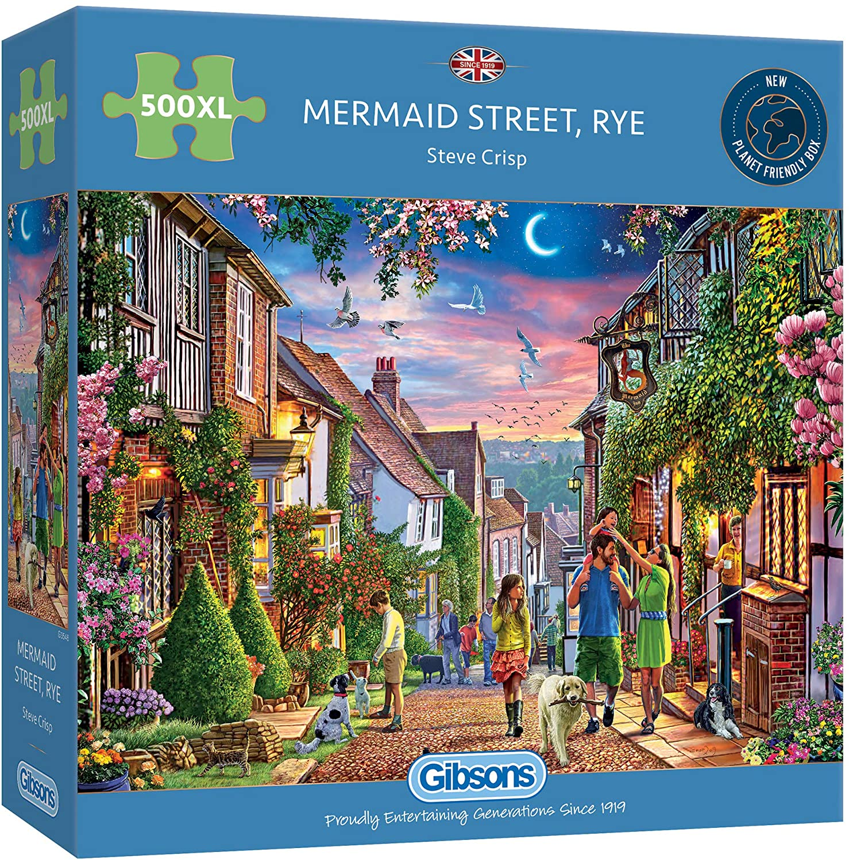 Gibsons Mermaid Street Rye Jigsaw Puzzle (500 XL Extra Large Pie