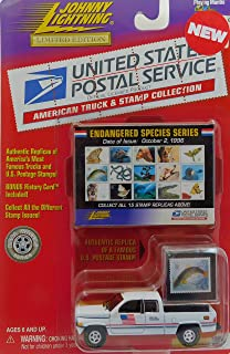 Johnny Lightning 1996 Dodge Ram U.S. Postal Service Pickup Truck (White) Endangered Species Stamps Limited Edition Collection 1:64 Scale die-cast