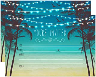 Beach Palm Tree Invitations, Nautical Invitations, Rustic Elegant invites for Wedding Rehearsal Dinner, Bridal Shower, Engagement, Birthday, Bachelorette Party, Baby Shower Invites