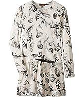 Roberto Cavalli Kids - Long Sleeve All Over Print Drop Waist Dress (Big Kids)