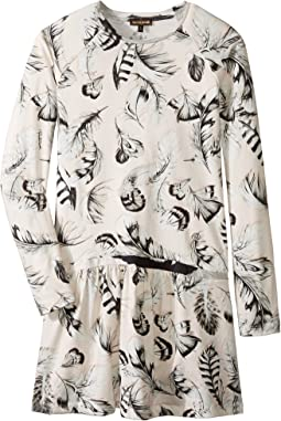 Roberto Cavalli Kids - Long Sleeve All Over Print Drop Waist Dress (Big Kids)
