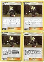 GLADION 95/111 Sun Moon Crimson Invasion - Trainer Card Set - x4 Supporter Card Lot (Playset)