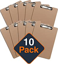 Clipboards (Set of 10) by Office Solutions Direct! ECO Friendly Hardboard Clipboard, Low Profile Clip Standard A4 Letter Size