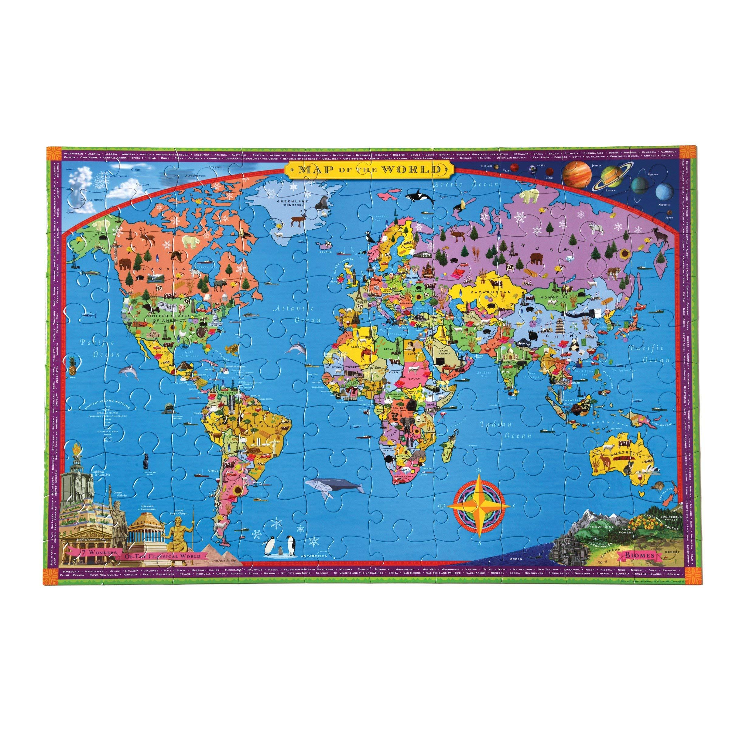 eeBoo- Puzzle, Mapa del Mundo (PZWR2): Amazon.es: Juguetes y juegos