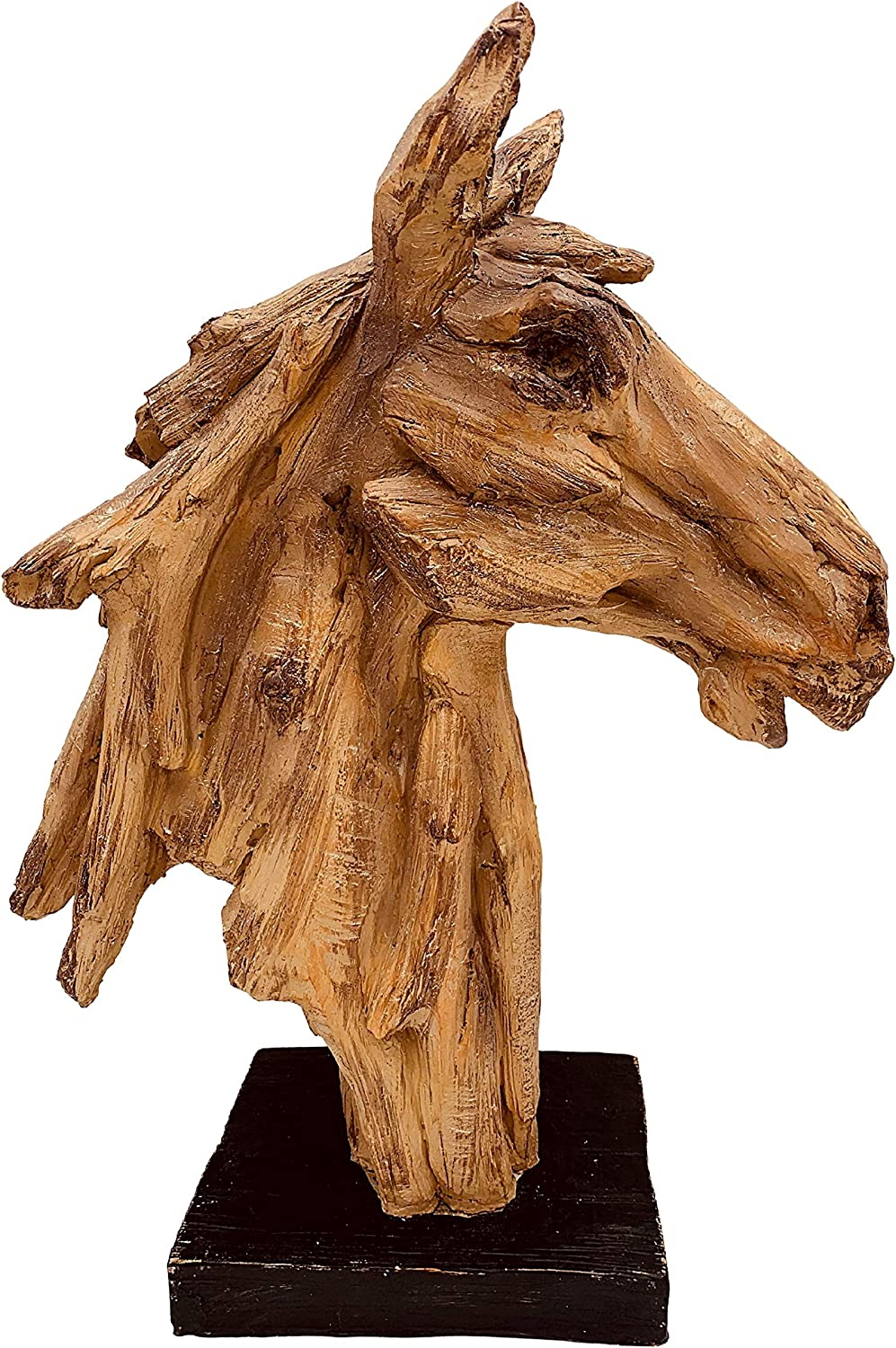 Year-end annual account Beautiful Wood Horse Same day shipping Home Decor 2 Sculpture Exquisite Statue -