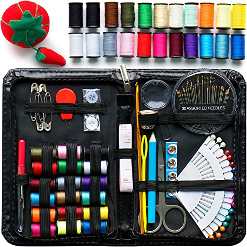 Evergreen Art Supply Sewing Kit Includes 40 Spools of Thread, All You Need, & More! Perfect as a Beginner Sewing Kit,...