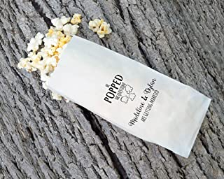 Engagement Party Popcorn Bags, He Popped The Question - Set of 25