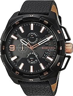 Men's DZ4419 Heavyweight Black Ip Black Leather Watch