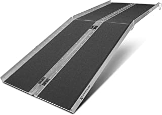 Titan Ramps Portable Wheelchair Ramp Multi Fold 7 ft Long x 30 in Wide 600 lb Capacity Anti-Slip for Home