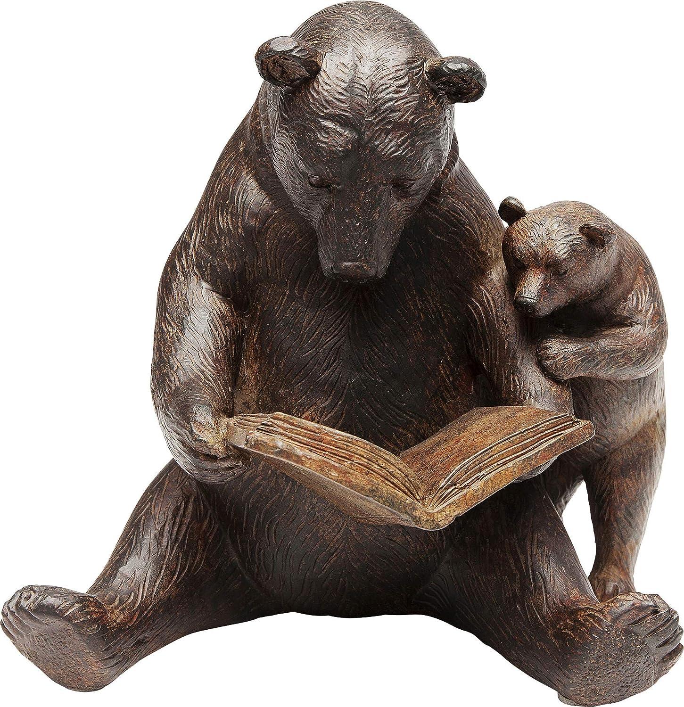Kare Reading Bears Deco Object Fresno Mall Brown x 20 18 cm 15.5 Detroit Mall