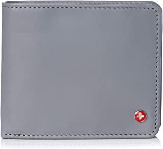 RFID Protected Men's Max Coin Pocket Bifold Wallet with Divided Bill Section Camden Collection
