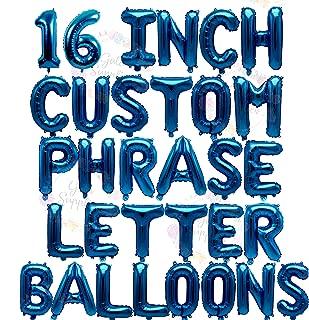 Letter Balloons - Custom Phrase 16