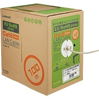 エレコム LANケーブル 100m 自作用 RoHS指令準拠 CAT6 ライトグレー LD-CT6/LG100/RS