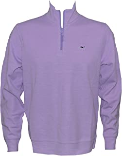 Vineyard Vines Men's Broadfield 1/4 Zip Solid Sweater