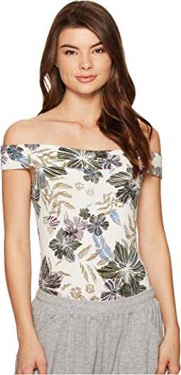 Off the Shoulder Printed Bodysuit