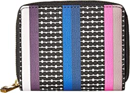 Novelty Stripe Rfid Mini Wallet