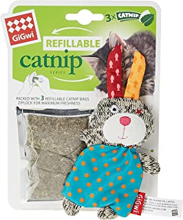 Gigwi Refillable Catnip Rabbit Bear,7055