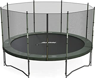 Acon Air 4.3 Trampoline 14ft with Enclosure | Includes 14ft Round Trampoline and Safety Net | 96 Heavy Duty 8.5in Springs