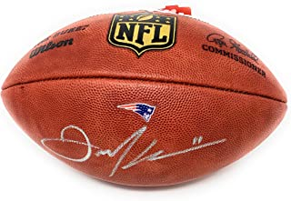 Julian Edelman New England Patriots Signed Autograph Authentic Duke NFL Football RARE TEAM ISSUED JSA Witnessed Certified