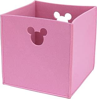 Disney Felt Die Cut Storage Bin, Pink, Minnie Mouse