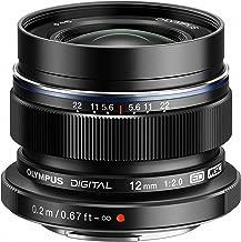 Olympus M.Zuiko Digital Angular 12 mm f/2.0 - Objetivo (Gran Angular, Apertura máxima 1:2.0, Exterior metálico), Color Negro