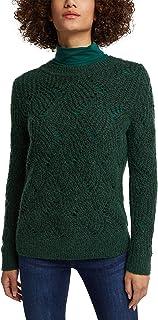 ESPRIT Mit Wolle und Alpaka: Pointelle-Pullover