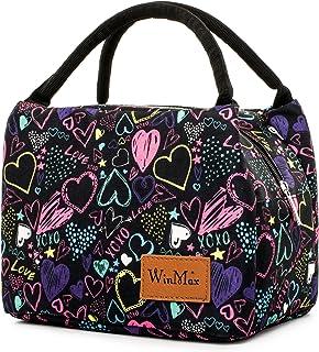 winmax Sac Repas Isotherme Sac à Déjeuner Femme Lunch Bag Sac Fraîcheur Portable Sac Glaciere Isotherme Grand Taille pour ...