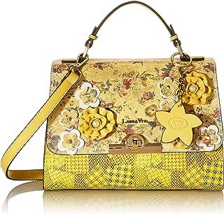 Laura Vita Womens 4232 Sling, Handle Bag, Jaune, Medium