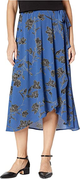 Wrap Skirt Bubble Crepe