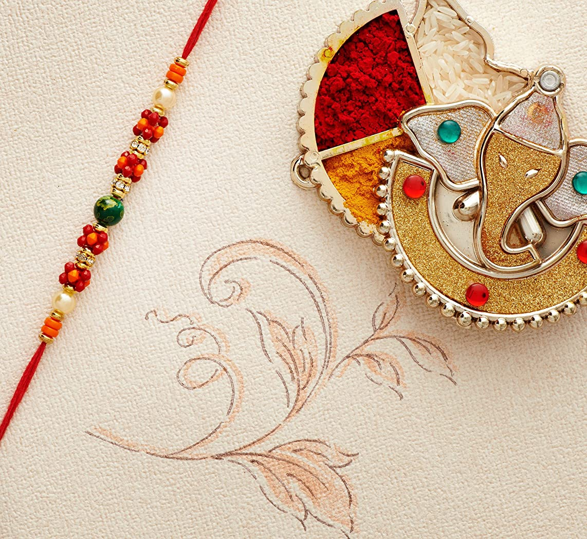 Rakhi for Brother Bhaiya Traditional Rakshabandhan Rakhee Thread Bracelet Rakhis