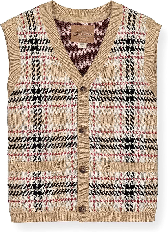 Hope Henry Max 58% OFF Boys' Vest Sweater V-Neck 2021 model