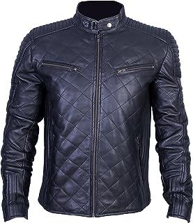Urban Leather UR 55 Motorrad Leder Jacke Herren 956, Schwarz, Große : 4XL