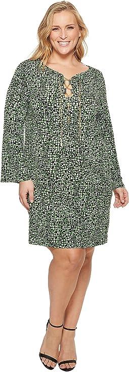 Plus Size Lace-Up Reptile Dress