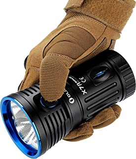 Olight X7R Marauder 12,000 Lumens X7 Rechargeable LED flashlight with Built-in 18650 Batteries pack, USB Type-C charging cable and power adapter, Holster, Lanyard and LegionArms Sticker