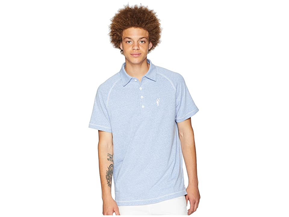 Toes on the Nose Jesse Short Sleeve Raglan Polo (Chambray) Men