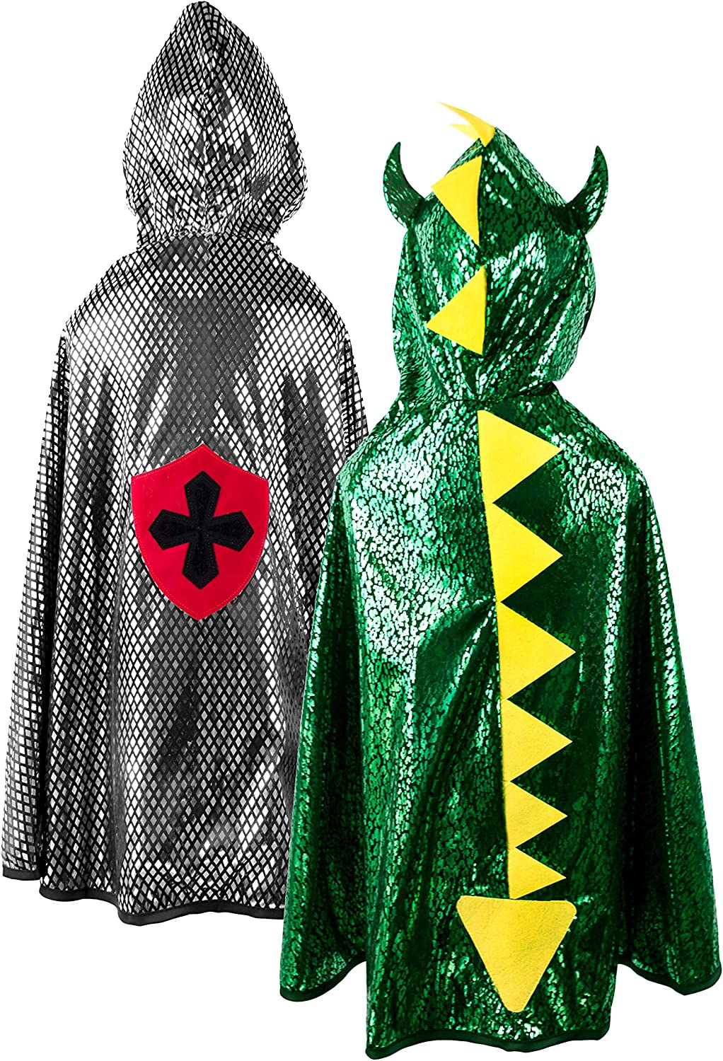 Great Challenge the lowest price of Japan Pretenders Gorgeous 55693 Reversible Dragon Knight Cape Sil Green