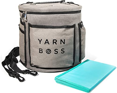 Yarn Boss Yarn Bag, Travel with Yarn and All Notions - Yarn Storage to Organize Multiple Projects and Keep Your Yarn ...