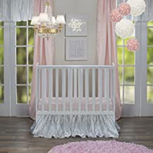 product image for Glenna Jean Lil Princess Mini Crib 2 Piece Bedding Set Includes Dust Ruffle and Fitted Sheet, Pink