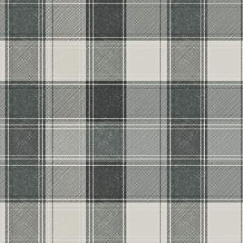 294900 Country Tartan HEAVY WEIGHTS Charcoal With Matching PLAINS