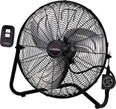 Lasko H20660 All-Metal Commercial Grade Electric Plug-in High Velocity Floor Fan with Wall Mount Option and Remote Control for Indoor Home, Bedroom, Garage, Basement, and Work Shop Use, Black