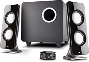 Cyber Acoustics 62W 2.1 Stereo Speaker with Subwoofer - Great for multimedia laptop or PC computers - perfect for Music, Movies, and Gaming (CA-3610)