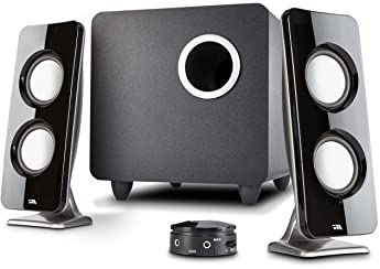 Cyber Acoustics 62W 2.1 Stereo Speaker with Subwoofer - Great for multimedia laptop or PC computers - perfect for Mus...
