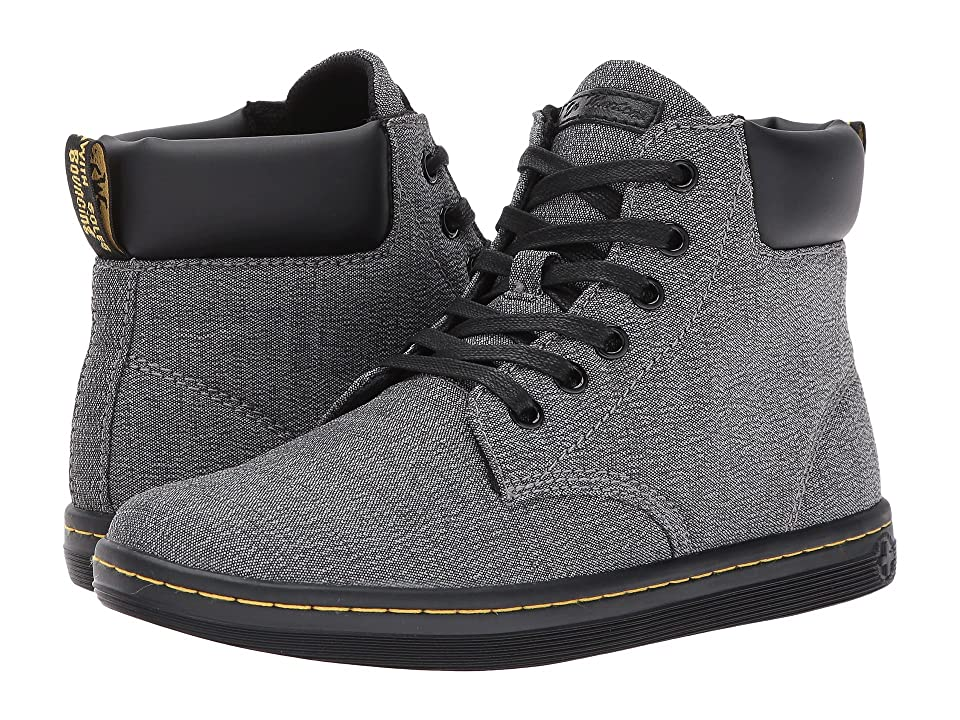 Dr. Martens Maelly Padded Collar Boot (Mid Grey Serge/Black Pu Srs) Women