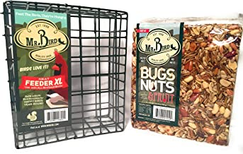 Mr. Bird Bugs, Nuts, Fruit Large Cake with Neat XL Feeder Bird Seed