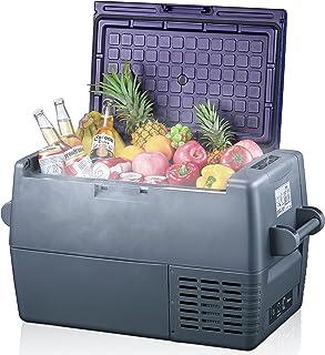 45 Liter Kühlbox 12V Tragbarer Auto-Kühlschrank Elektrische Gefrierbox Klein Gefrierschrank für Auto Camping, Lkw, Boot und 100V-240VSteckdose, -20℃ bis 10℃ (45L-Doppelzone)