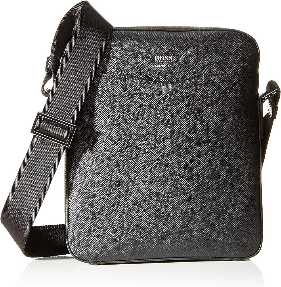 Hugo boss,borsa,borsello a spalla per uomo in pelle 50390918