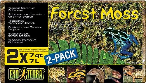 EXO TERRA Exoterra Set de 2 Substrats Mousse de Forêt pour Reptile/Amphibien 7 L